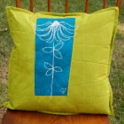 chartreuse-teal-echinacea-botanical-sketch-pillow-2