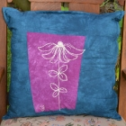 navy-plum-echinacea-botanical-sketch-pillow