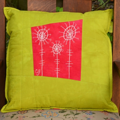 chartreuse-red-poppy-botanical-sketch-pillow