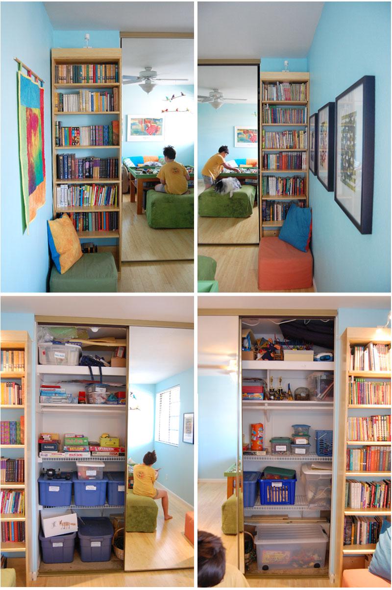 Attractive ... Playroom Closet ...