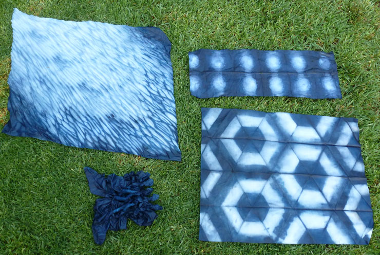Snapshots From The Studio Indigo Shibori Candied Fabrics