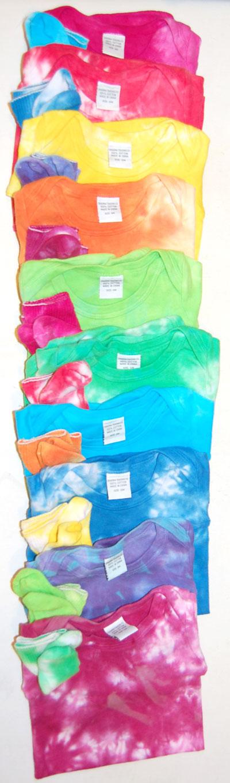 Tie dyed onesies