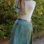 An Earth & Sky Dyed Rayon Skirt