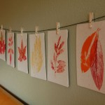 Yes You CAN make leaf prints for Fall decorating