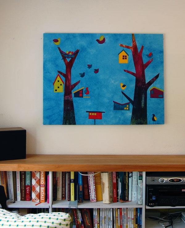 Art Quilt Trees Birds