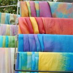 Complete: Commission for 104 Hand Dyed Scarves!