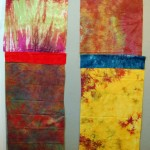 Snapshots from the Studio | Color Blocks Art Quilt Pair