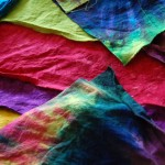 Snapshots from the Studio: Mounds of Hand Dyed Fabric