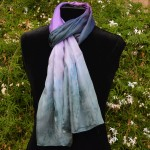 Custom Dyed Scarves | Many Tones of Purple