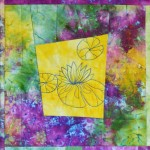Blogger's Quilt Festival: Giverny Flowers #1