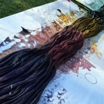 Studio Snapshots | Dyeing Linen Curtains