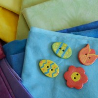 Studio Snapshots | Colors for some Handmade Easter Buttons