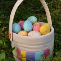 Cuteness Alert | Easter Baskets with Handmade Buttons