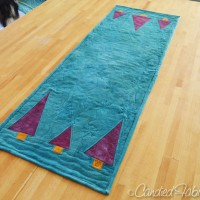 More Adventures in Linen | A Table Runner with Improvisationally Pieced Trees