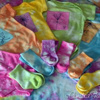 A Commissioned Hand Dyed Baby Layette