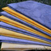 Studio Snapshots | Hand Dyed Greys and Yellows