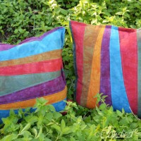 New Improvisationally Pieced Linen Pillows