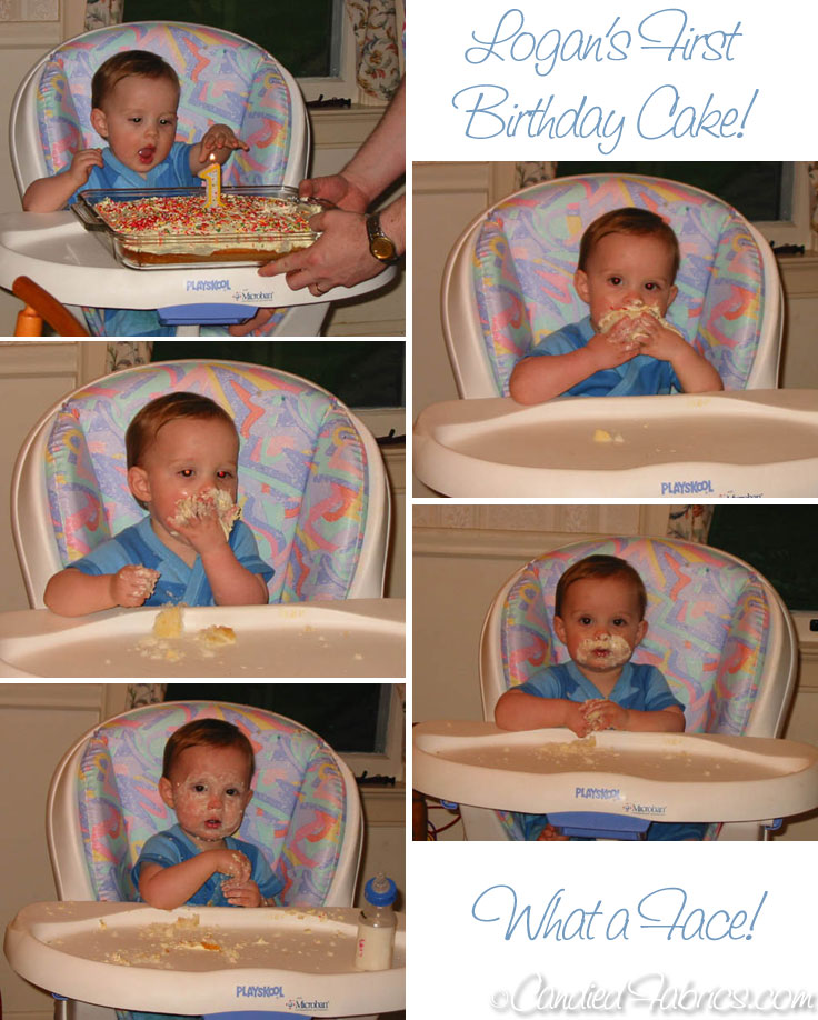 Logans-first-cake