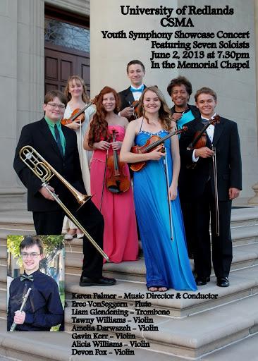 Flyer - CSMA Youth Symphony Showcase Soloists - June 2, 2013