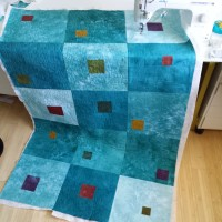 Quilting as you go