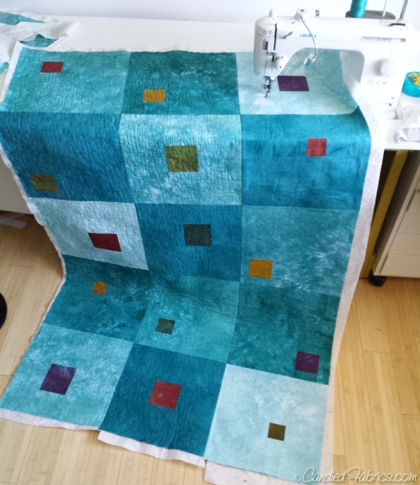 Quilt as you go process 10