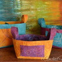 Linen Buckets in My Autumn Splendor Palette