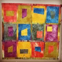 Studio Snapshots | An Art Quilt in my Autumn Splendor Palette