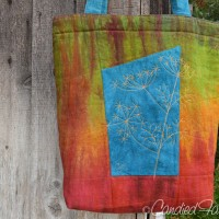 New Hand Dyed Linen Tote Bag!