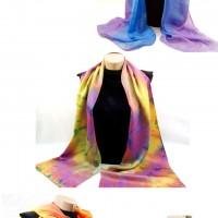 Studio Snapshots | Summer Palette Hand Dyed Silk Scarves
