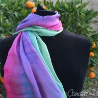 A Custom Dyed Scarf for a Woman who likes Bright Colors!