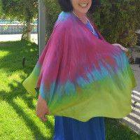 A Custom Dyed Silk Cape for a Special Event