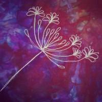 Studio Snapshot | Free Motion Machine Sketches on my Zip Clutches