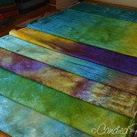 Studio Snapshots | Freshly Dyed Cotton Sateen