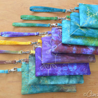 8 Zip Clutches from Hand Dyed Cotton Sateen DONE!