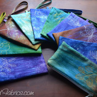 A New Batch of Sateen Zip Clutches Complete!