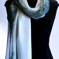 Commission | A Silk Scarf with Shades of Grey