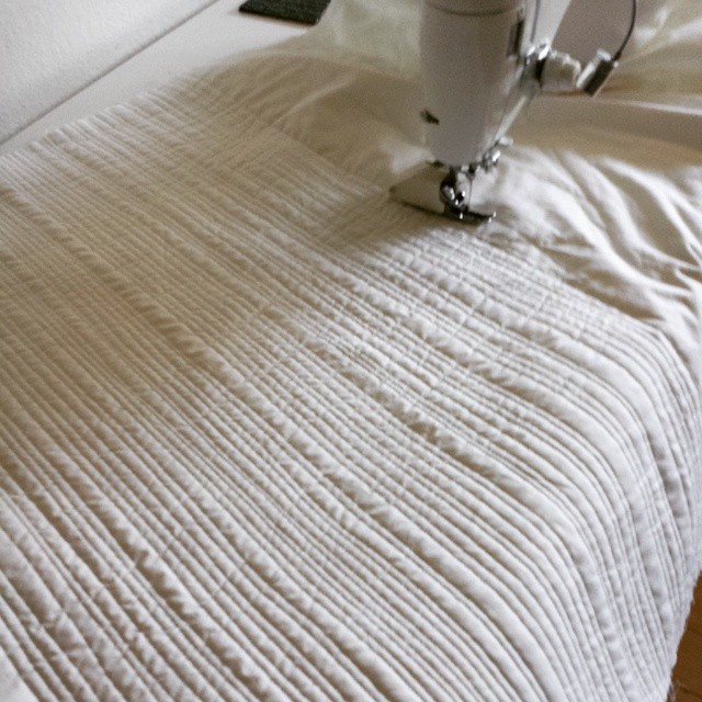 White on White Matchstick Quilting
