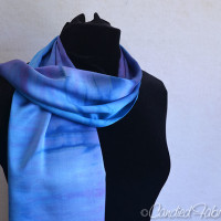 3 Custom Dyed Silk Scarves