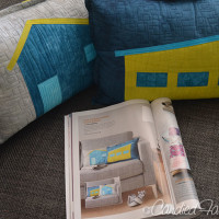 Mid Century Modern House Pillows | Magazine + Fabric Giveaway