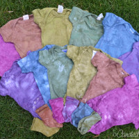Freshly Dyed Baby Clothes for a Baby Shower