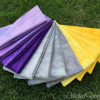 Studio Snapshots | Purple, Grey and Gold Baby Quilt Step 2