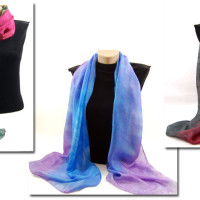 Give the Gift of Color – One of my Hand Dyed Silk Scarves!