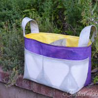 A Divided Basket for a Purple, Grey and Gold Nursery