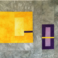 Studio Snapshots | Purple, Grey and Gold Baby Quilt Step 4