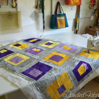 Studio Snapshots | Purple, Grey and Gold Baby Quilt Step 5