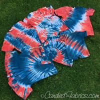 Fourth of July Dyed Tees for some Cousins