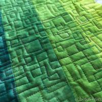 Studio Snapshots | A Modulating Squares Quilt for Liam