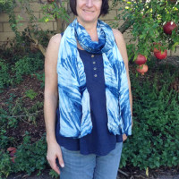 Happy Customers in Their New Indigo Dyed Scarves!