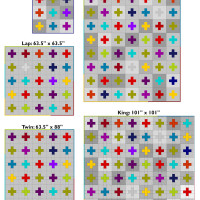 3 | Scrappy Swiss Cross Quilt: Yardage and Cutting Charts for 5 Sizes of Quilts