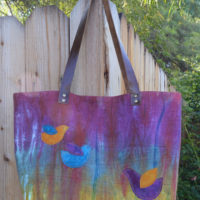 New Bag: A Leather Handled Linen Tote!
